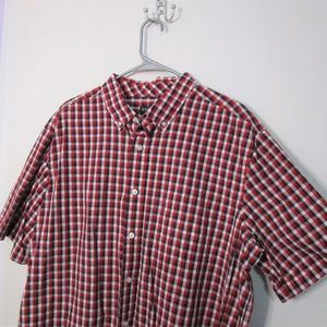 Red White and Blue Short Sleeve Button Down